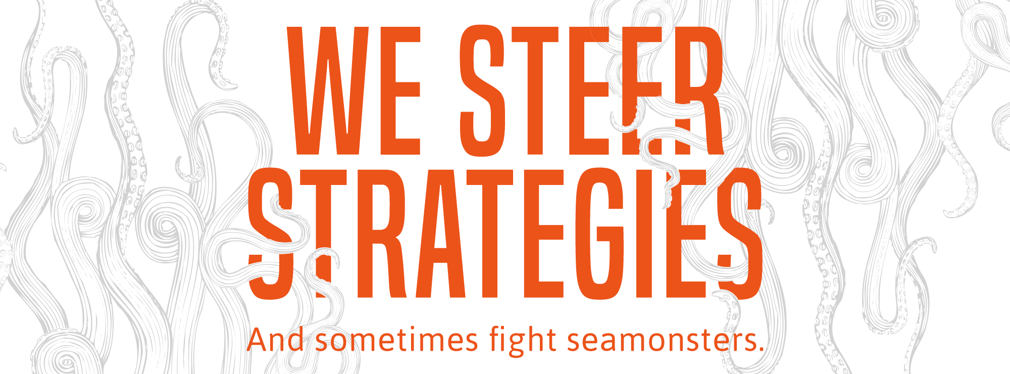 We Steer Strategies. And sometimes fight seamonsters.